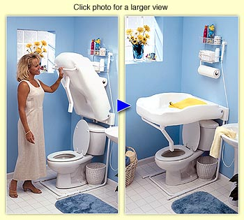 Fold-down Diaper Changing Table